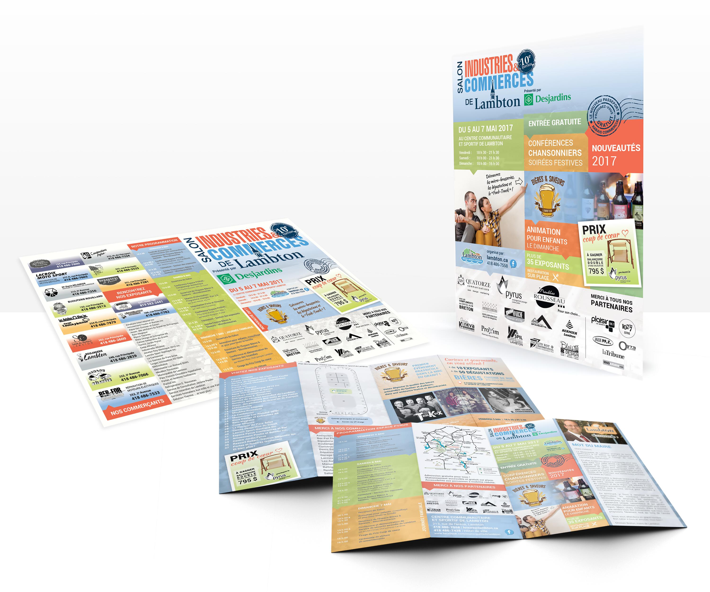 Salon Industries & Commerces de Lambton conception graphique