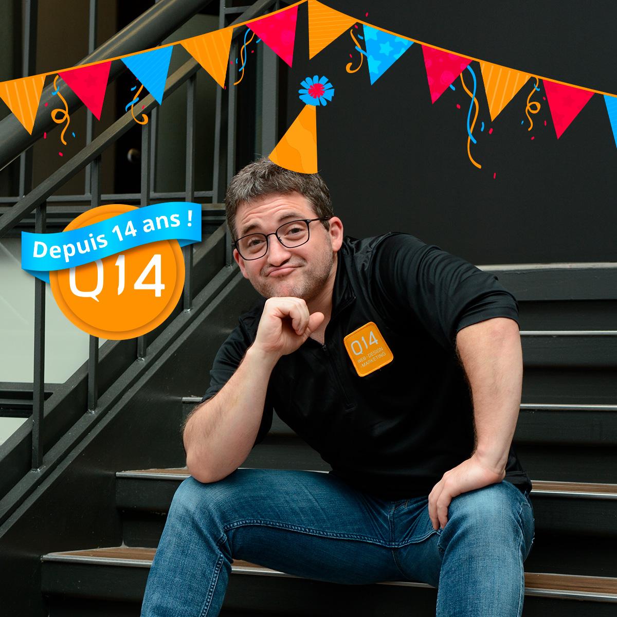 Marc fête ses 14 ans chez Q14